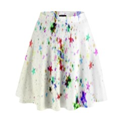 Star Structure Many Repetition High Waist Skirt