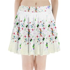 Star Structure Many Repetition Pleated Mini Skirt