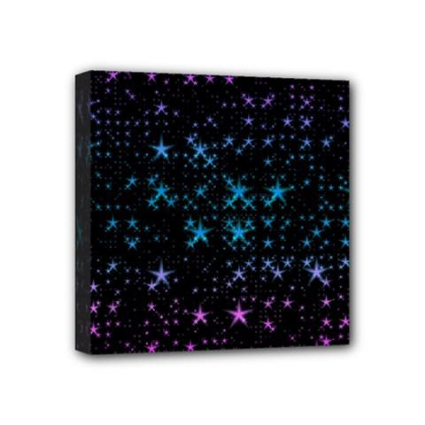 Stars Pattern Seamless Design Mini Canvas 4  X 4