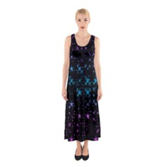 Stars Pattern Seamless Design Sleeveless Maxi Dress