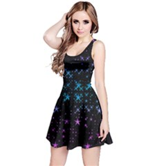Stars Pattern Seamless Design Reversible Sleeveless Dress
