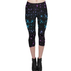 Stars Pattern Seamless Design Capri Leggings