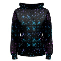 Stars Pattern Seamless Design Women s Pullover Hoodie