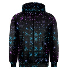 Stars Pattern Seamless Design Men s Zipper Hoodie