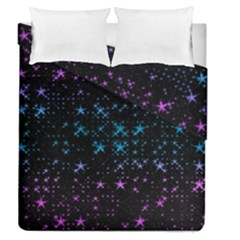 Stars Pattern Seamless Design Duvet Cover Double Side (queen Size)