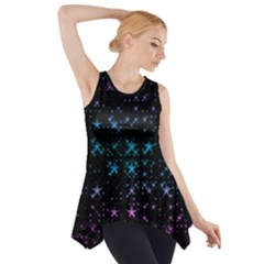 Stars Pattern Seamless Design Side Drop Tank Tunic