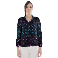 Stars Pattern Seamless Design Wind Breaker (women)