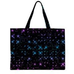 Stars Pattern Seamless Design Zipper Large Tote Bag