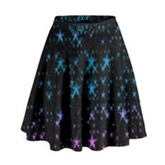 Stars Pattern Seamless Design High Waist Skirt