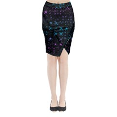 Stars Pattern Seamless Design Midi Wrap Pencil Skirt