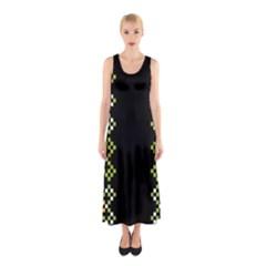 Vintage Pattern Background  Vector Seamless Sleeveless Maxi Dress