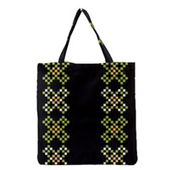Vintage Pattern Background  Vector Seamless Grocery Tote Bag