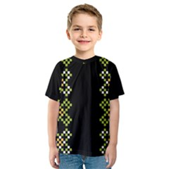 Vintage Pattern Background  Vector Seamless Kids  Sport Mesh Tee