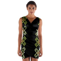 Vintage Pattern Background  Vector Seamless Wrap Front Bodycon Dress