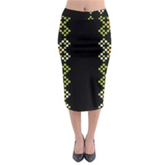 Vintage Pattern Background  Vector Seamless Midi Pencil Skirt