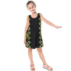 Vintage Pattern Background  Vector Seamless Kids  Sleeveless Dress