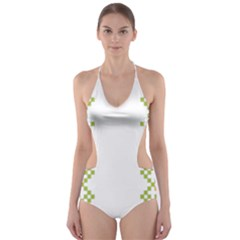 Vintage Pattern Background  Vector Seamless Cut Out One Piece Swimsuit