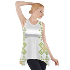 Vintage Pattern Background  Vector Seamless Side Drop Tank Tunic
