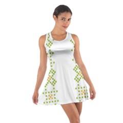 Vintage Pattern Background  Vector Seamless Cotton Racerback Dress
