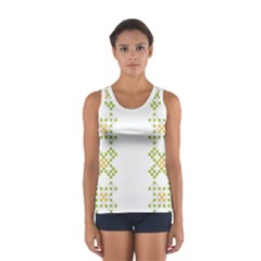 Vintage Pattern Background  Vector Seamless Women s Sport Tank Top