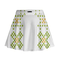 Vintage Pattern Background  Vector Seamless Mini Flare Skirt