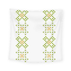 Vintage Pattern Background  Vector Seamless Square Tapestry (small)