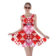 Valentine Heart Love Pattern Skater Dress