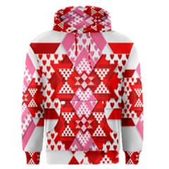 Valentine Heart Love Pattern Men s Pullover Hoodie