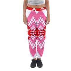 Valentine Heart Love Pattern Women s Jogger Sweatpants