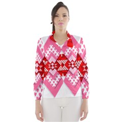 Valentine Heart Love Pattern Wind Breaker (women)