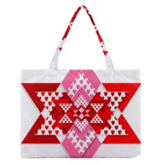 Valentine Heart Love Pattern Medium Zipper Tote Bag