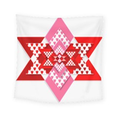 Valentine Heart Love Pattern Square Tapestry (small)