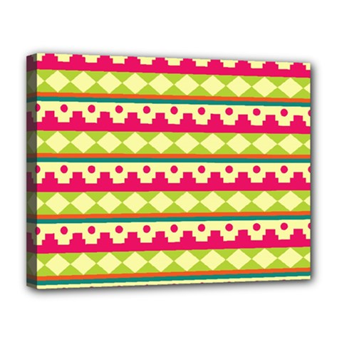 Tribal Pattern Background Canvas 14  X 11