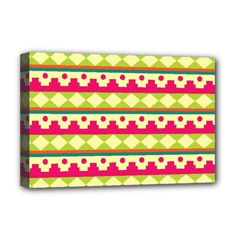 Tribal Pattern Background Deluxe Canvas 18  X 12