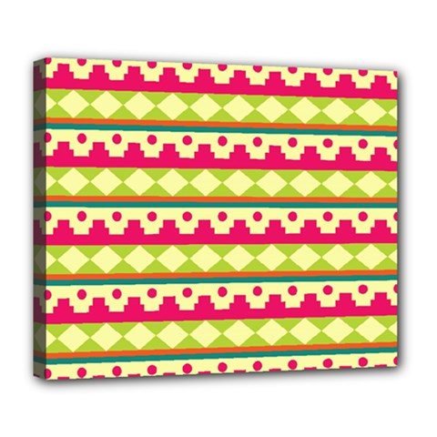 Tribal Pattern Background Deluxe Canvas 24  X 20