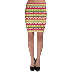 Tribal Pattern Background Bodycon Skirt