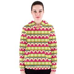 Tribal Pattern Background Women s Zipper Hoodie