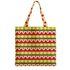 Tribal Pattern Background Zipper Grocery Tote Bag