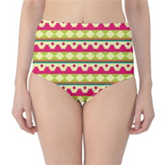 Tribal Pattern Background High Waist Bikini Bottoms
