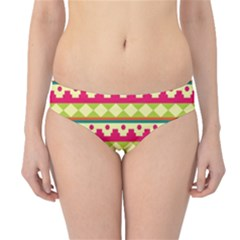 Tribal Pattern Background Hipster Bikini Bottoms