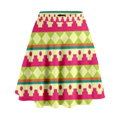 Tribal Pattern Background High Waist Skirt