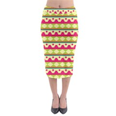 Tribal Pattern Background Midi Pencil Skirt