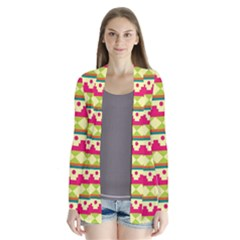 Tribal Pattern Background Cardigans