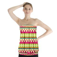 Tribal Pattern Background Strapless Top