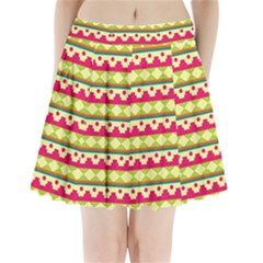 Tribal Pattern Background Pleated Mini Skirt