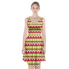 Tribal Pattern Background Racerback Midi Dress