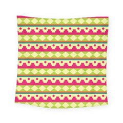 Tribal Pattern Background Square Tapestry (small)