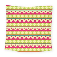 Tribal Pattern Background Square Tapestry (large)