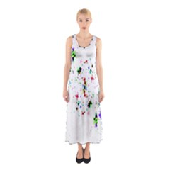 Star Structure Many Repetition Sleeveless Maxi Dress
