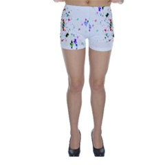 Star Structure Many Repetition Skinny Shorts